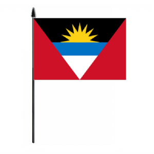 Antigua & Barbuda Country Hand Flag - Medium
